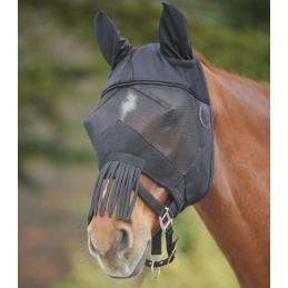 Vliegenmasker met oren en neusbescherming zwart
