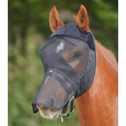 Vliegenmasker zonder oren met neusbeschermer zwart