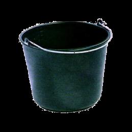Emmer kunststof zwart 12L