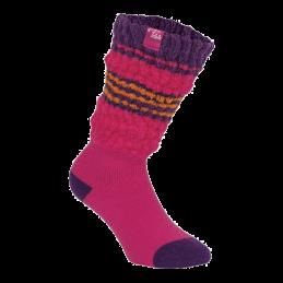 Fold over sokken dames roze paars