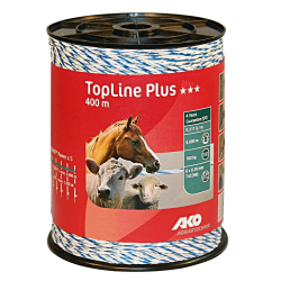 AKO TopLine Plus schrikdraad wit/blauw 400m