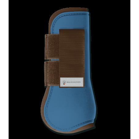 Peesbeschermers azuurblauw/bruin