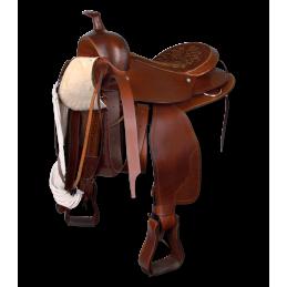 Western Zadel 16 inch bruin