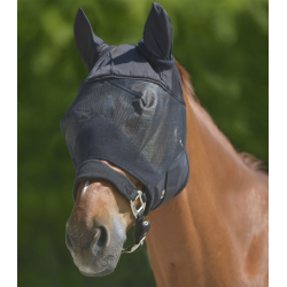 Vliegenmasker Premium met oren zwart